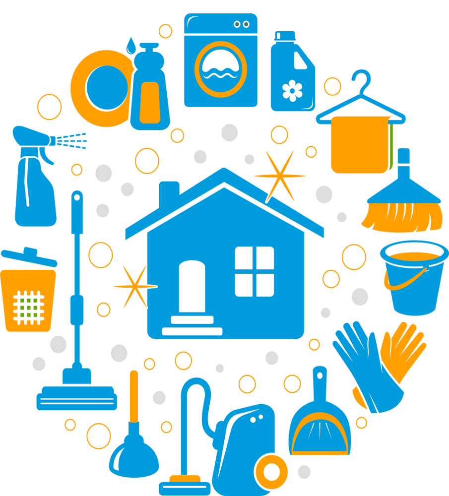 Amazing How To Save Money Building A House #8: House-clean-icons ...